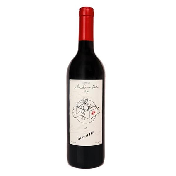 Botella de Vino Tinto Avión de Juguete.